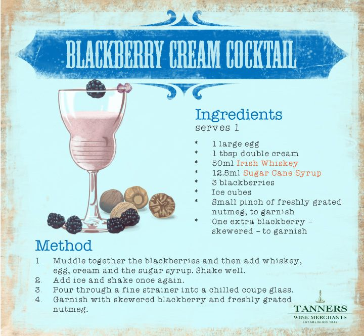 Decadently creamy, this #tasty little number strikes such a faultless balance between the #blackberries, the cream and the #whiskey that it's perfect for a #summer's night.