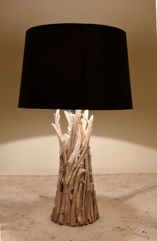 Driftwood Table Lamp Decor Lighting Beach Art Coastal Home By Driftwoodandpebbles On Etsy
