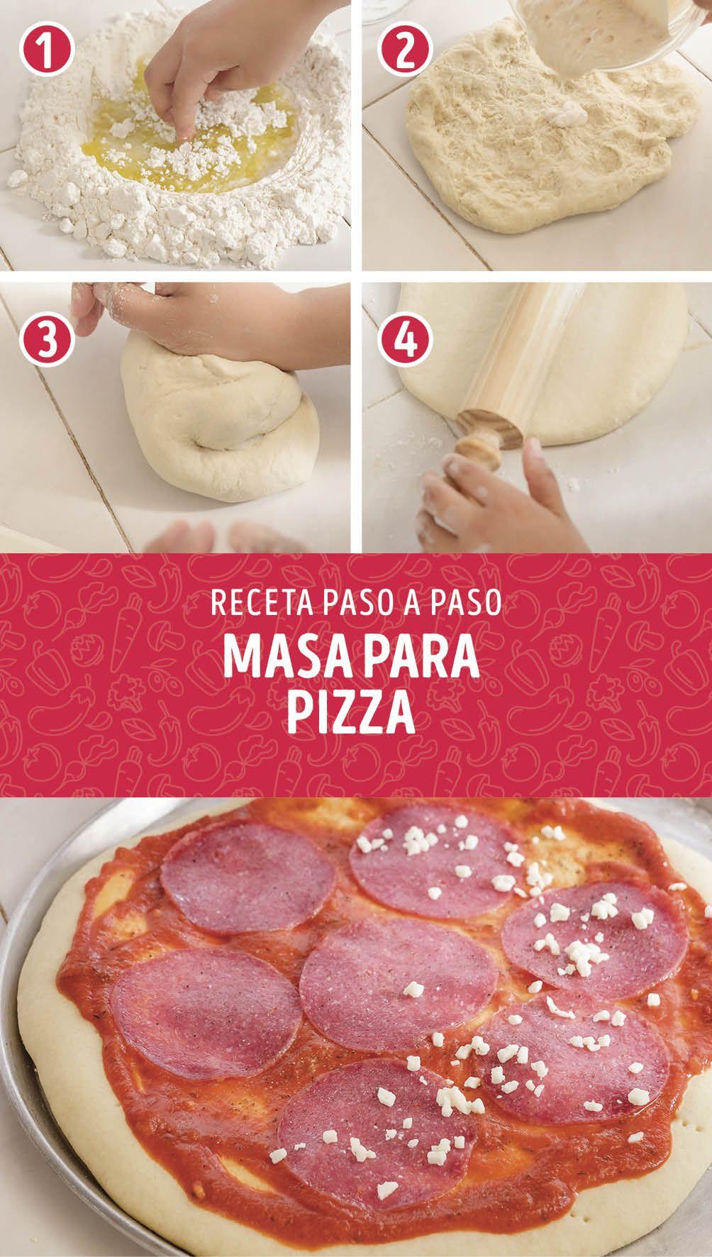 Cómo Hacer Masa Para Pizza Casera Pizzas Caseras Receta Masa Para Pizza Pizza Casera