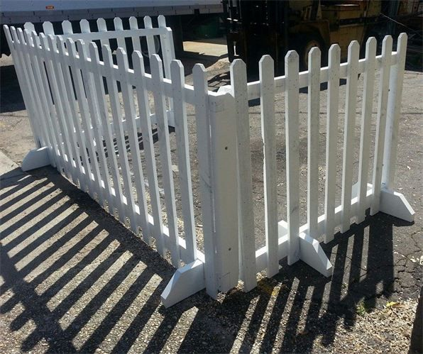 Portable Free Standing Picket Fence Backyard Fences Portable Fence Backyard