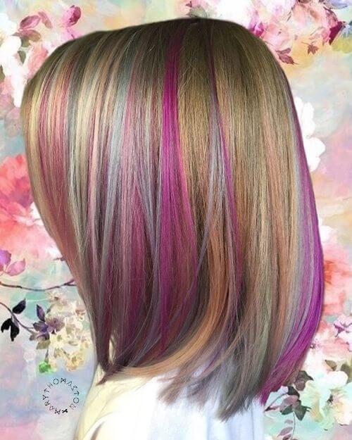 32 Photos Of Rainbow Hair Ideas To Consider For 2021 Hidden Rainbow Hair Rainbow Hair Color Kids Hair Color