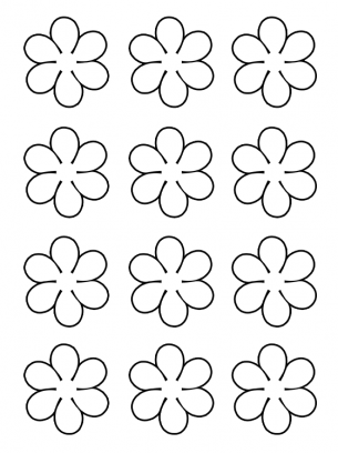 flowers activities template