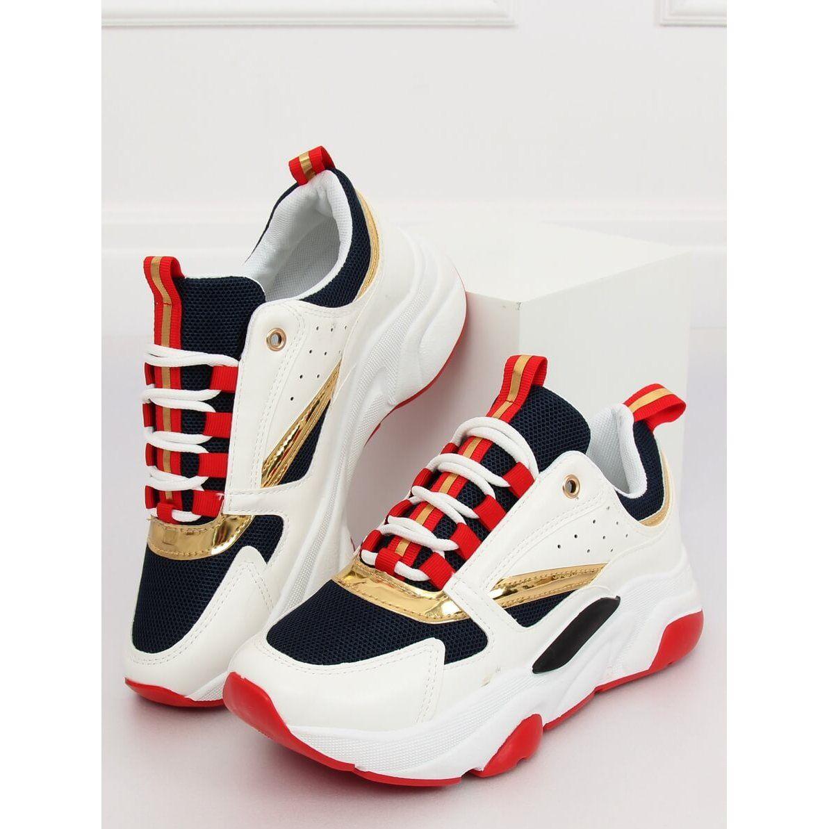 Buty Sportowe Wielokolorowe Bk008 47 White Blue Biale Granatowe Color Sport Shoes Sports Shoes Shoes