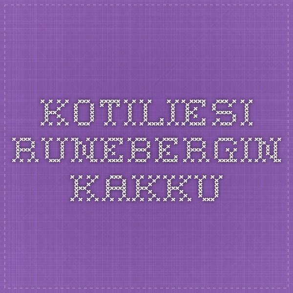 Kotiliesi - Runebergin kakku