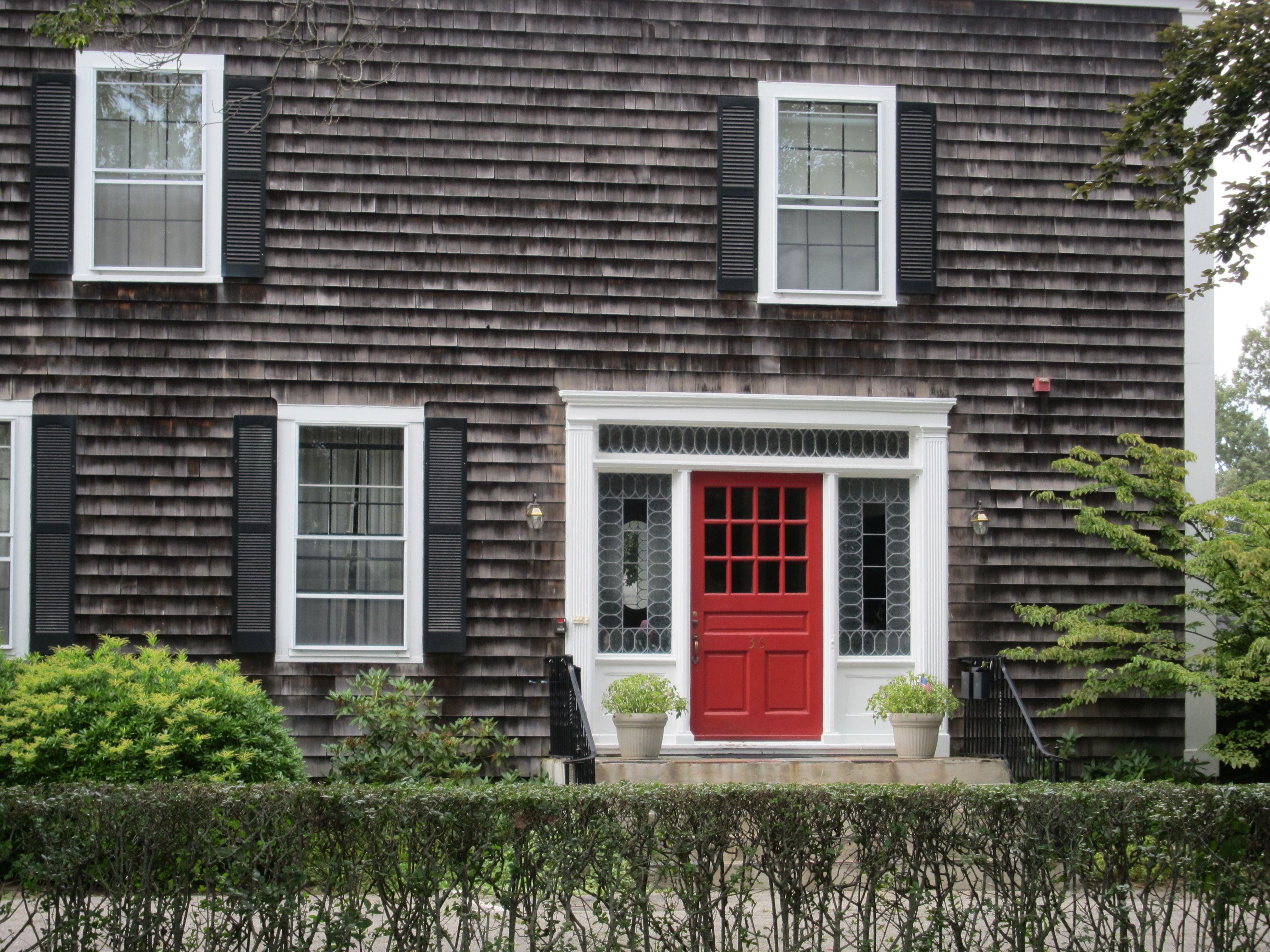 Red door and shingles - Newport RI & Red door and shingles - Newport RI | Color | Pinterest | Newport ... pezcame.com
