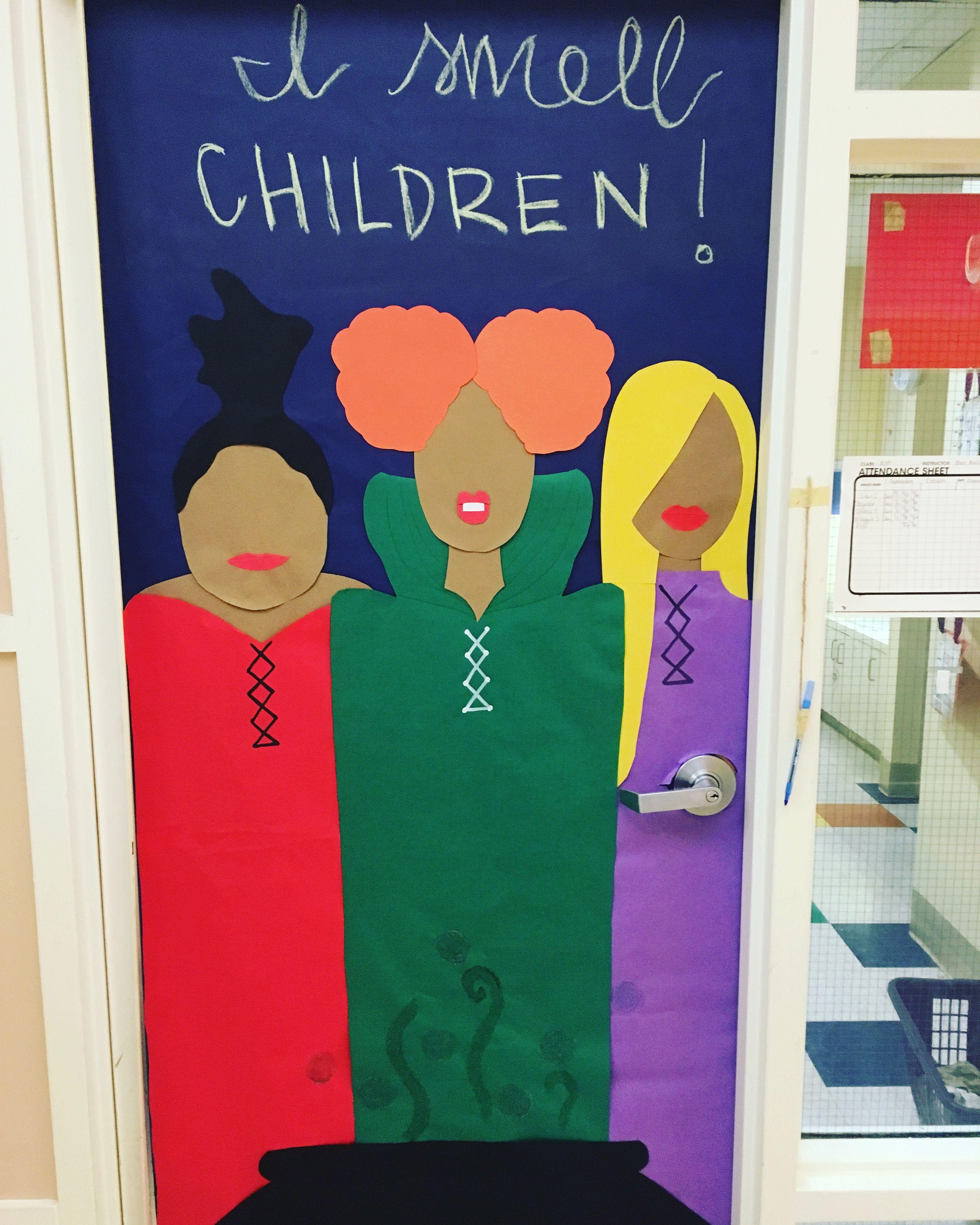 Halloween Door Hocus Pocus Need I Say More Halloween Door Decorations Classroom Halloween Classroom Door Decor Halloween Classroom