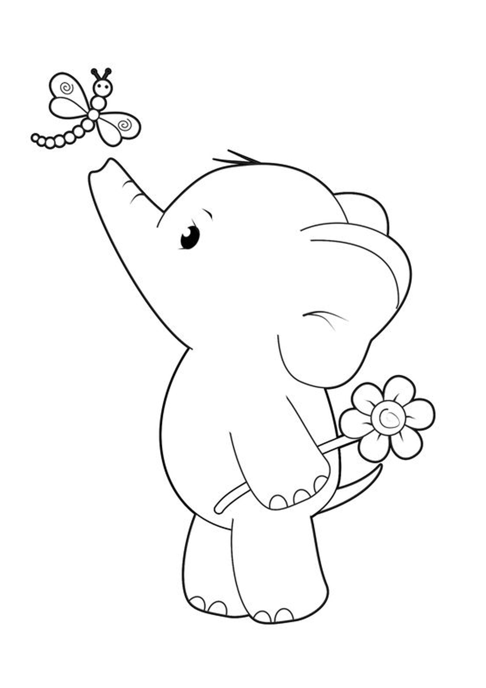 Free Easy To Print Elephant Coloring Pages Elephant Coloring Page Puppy Coloring Pages Cute Coloring Pages
