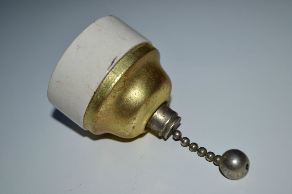 Vintage Pull Switch Ceramic And Brass Crabtree Vintage Light Switches Antique Lighting Electrical Fittings