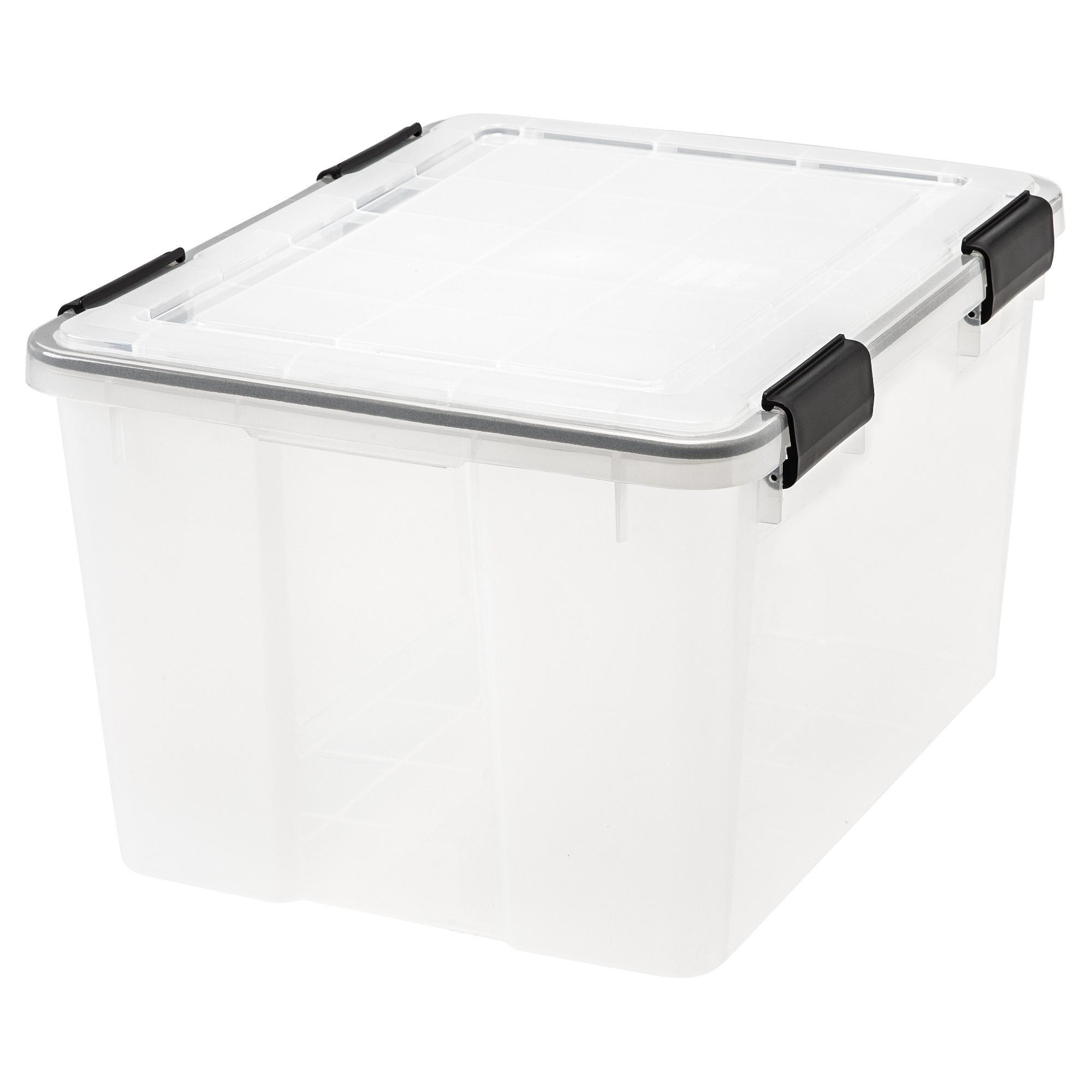Iris 46qt Plastic Storage Bin Clear Plastic Box Storage