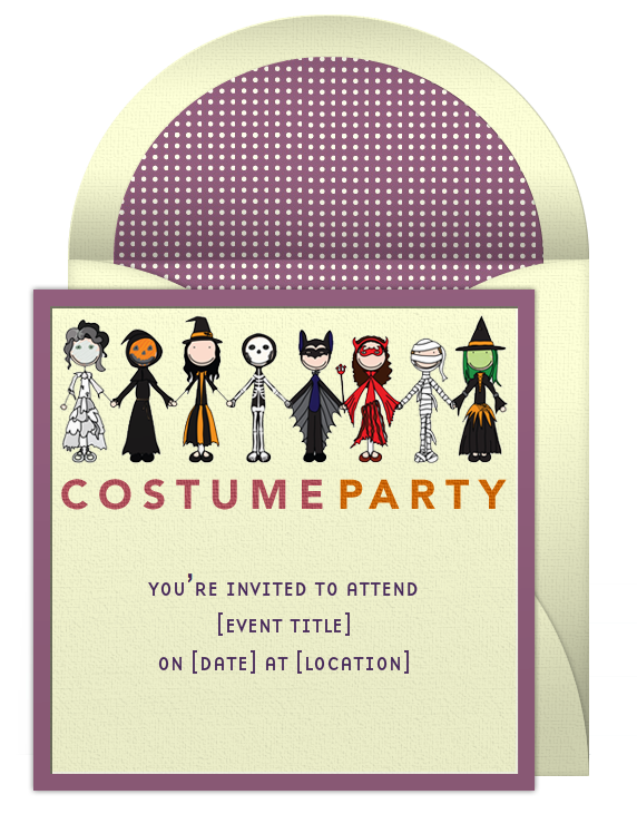 Halloween party invitations halloween costumes halloween party birthday party ideas stopboris Image collections