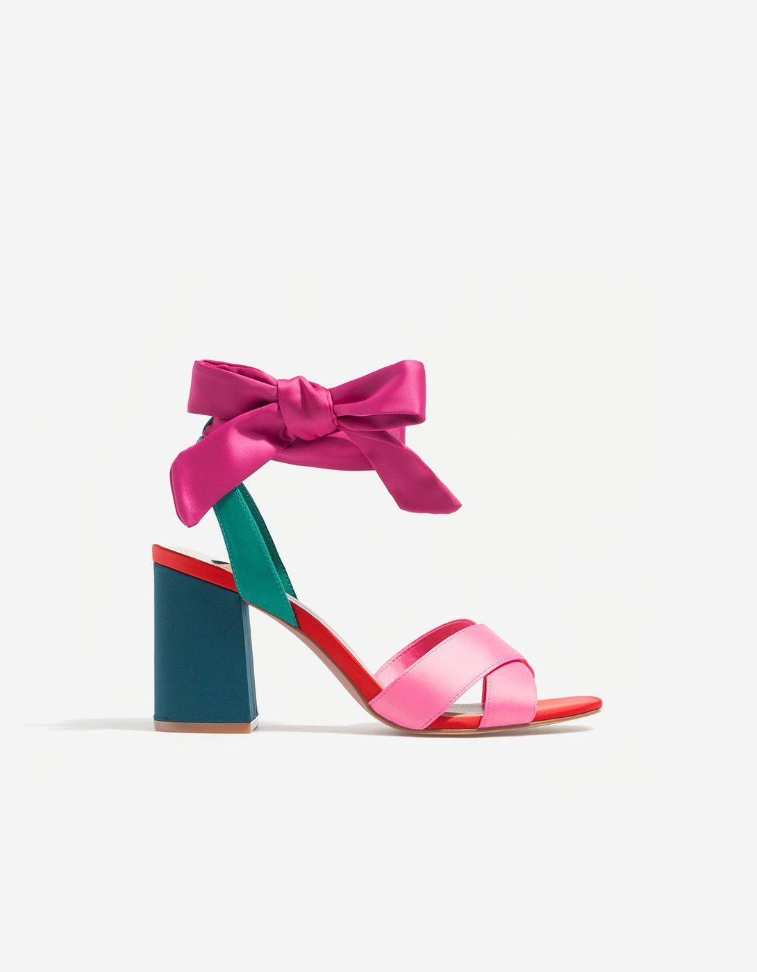 Tacón Raso De Stradivarius Combinada Zapatos Sandalia HYwxqAn