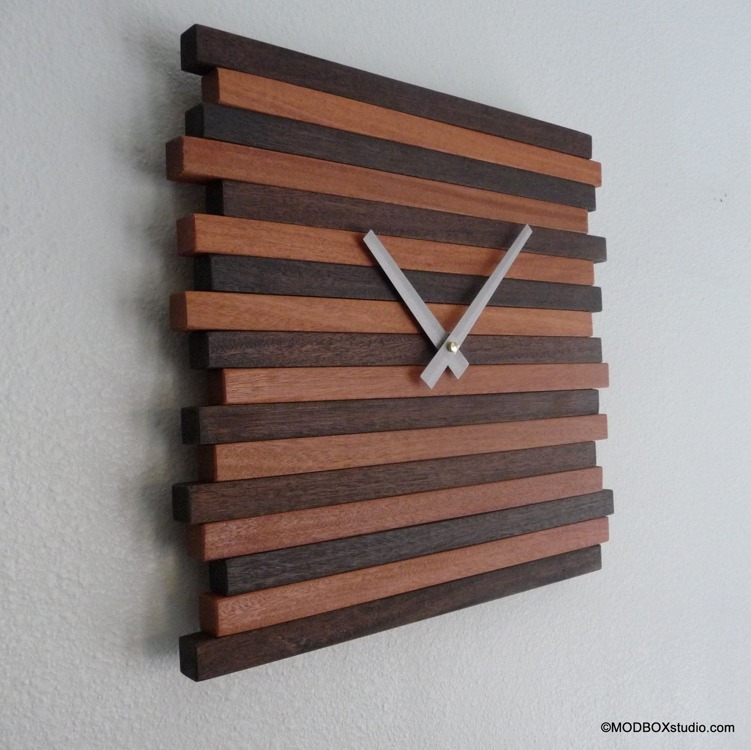 Clock Wall Hanging Reclaimed Wood Modern Decor