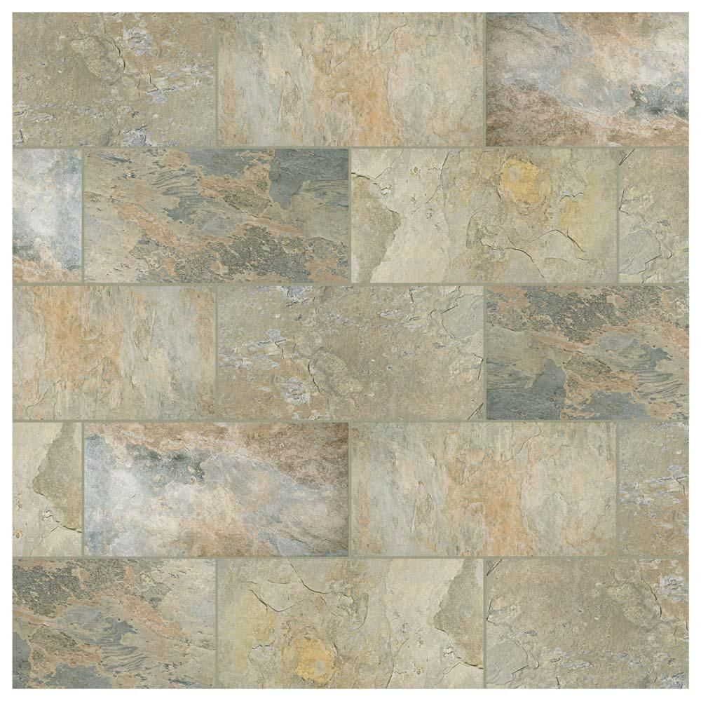 Merola Tile Ardesia Ocre 12 1 2 In X 24 1 2 In Porcelain Floor And Wall Tile 10 96 Sq Ft Case Fgfardoc The Home Depot Flooring Merola Tile Wall Tiles