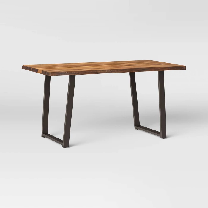 Thorald Live Edge Dining Table Brown Threshold Dining Table