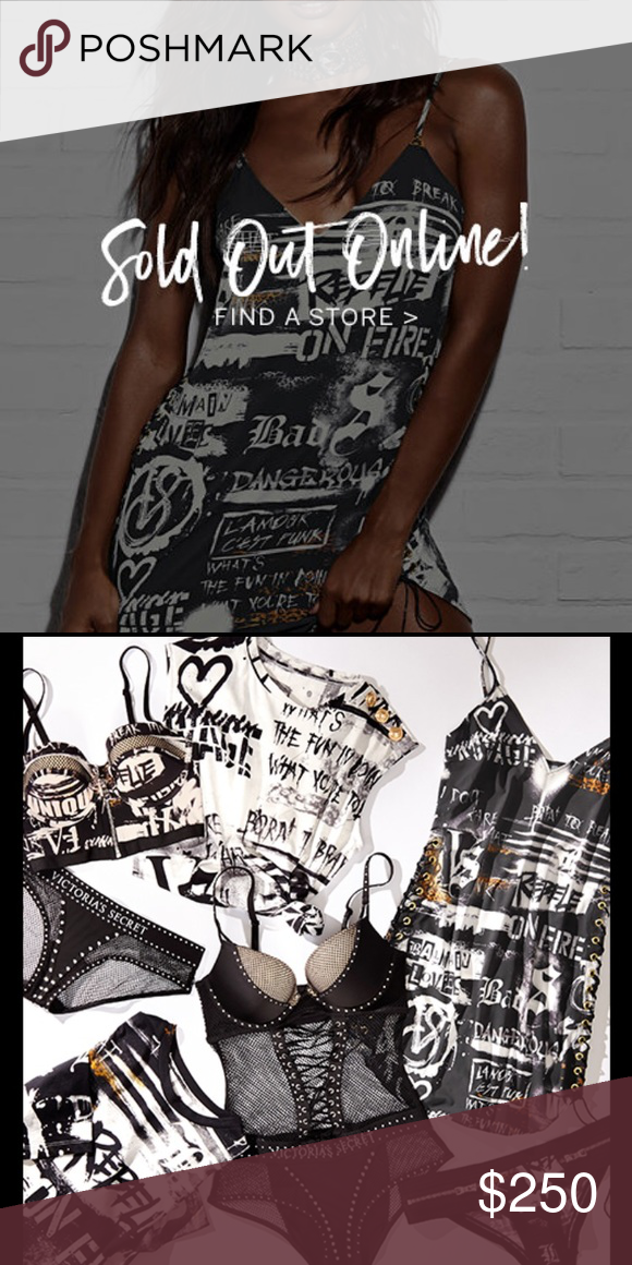 5dad55498bfd4 VS X Balmain RARE Graphic Slip Dress w/ Free Tote New with tags ...