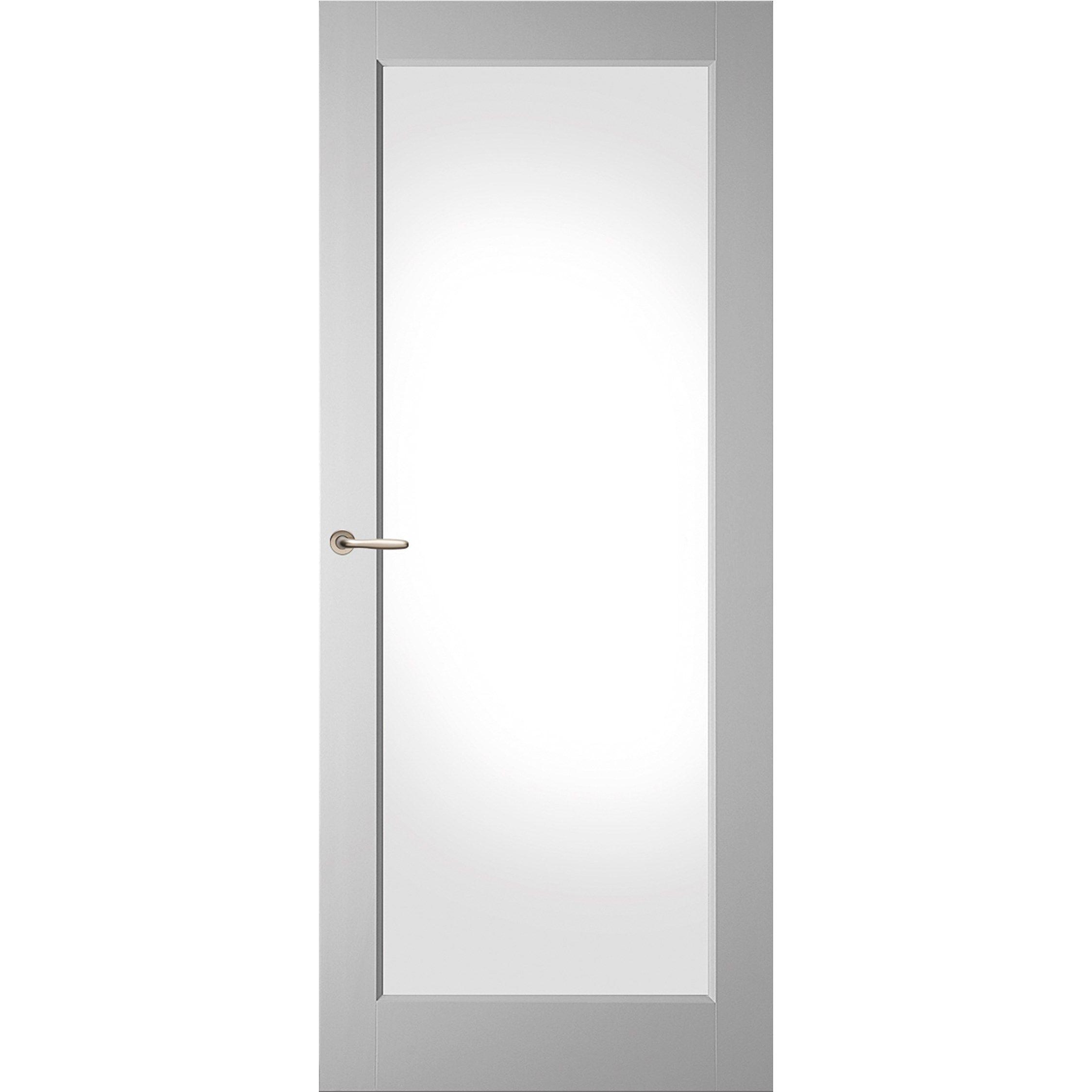 Binnendeur Met Glas Opdek.Deze Binnendeur Heeft Een Facetprofiel En Is Verkrijgbaar In
