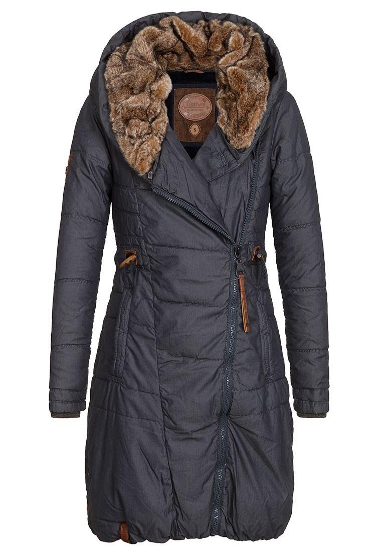 530d40b1f9a Dlouhá zimní bunda s kožíškem Naketano