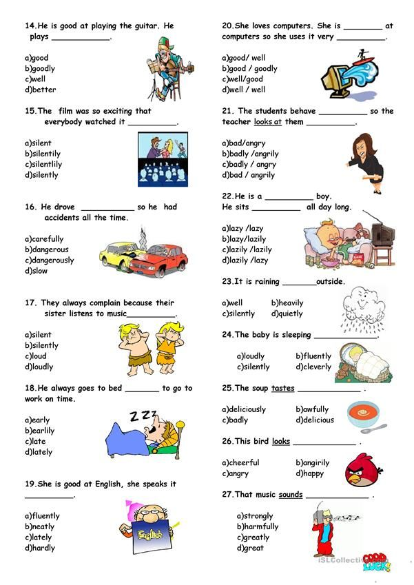 Adjective Or Adverb Worksheet Free Esl Printable Worksheets Made By Teachers Adverbs English Adjectives Adverbs Worksheet