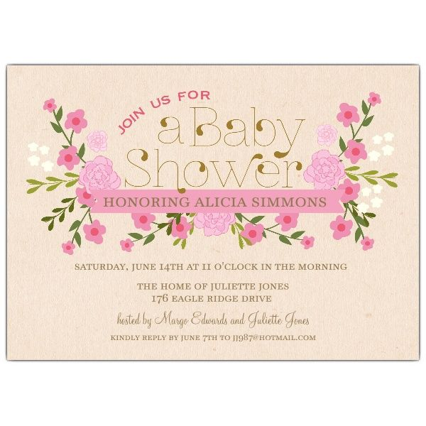 Vintage pink floral baby shower invitations httppaperstyle vintage blue floral baby shower invitations from paper style filmwisefo