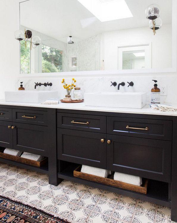 Bathroom freestanding double vanity bathroom with - Freestanding double bathroom vanity ...