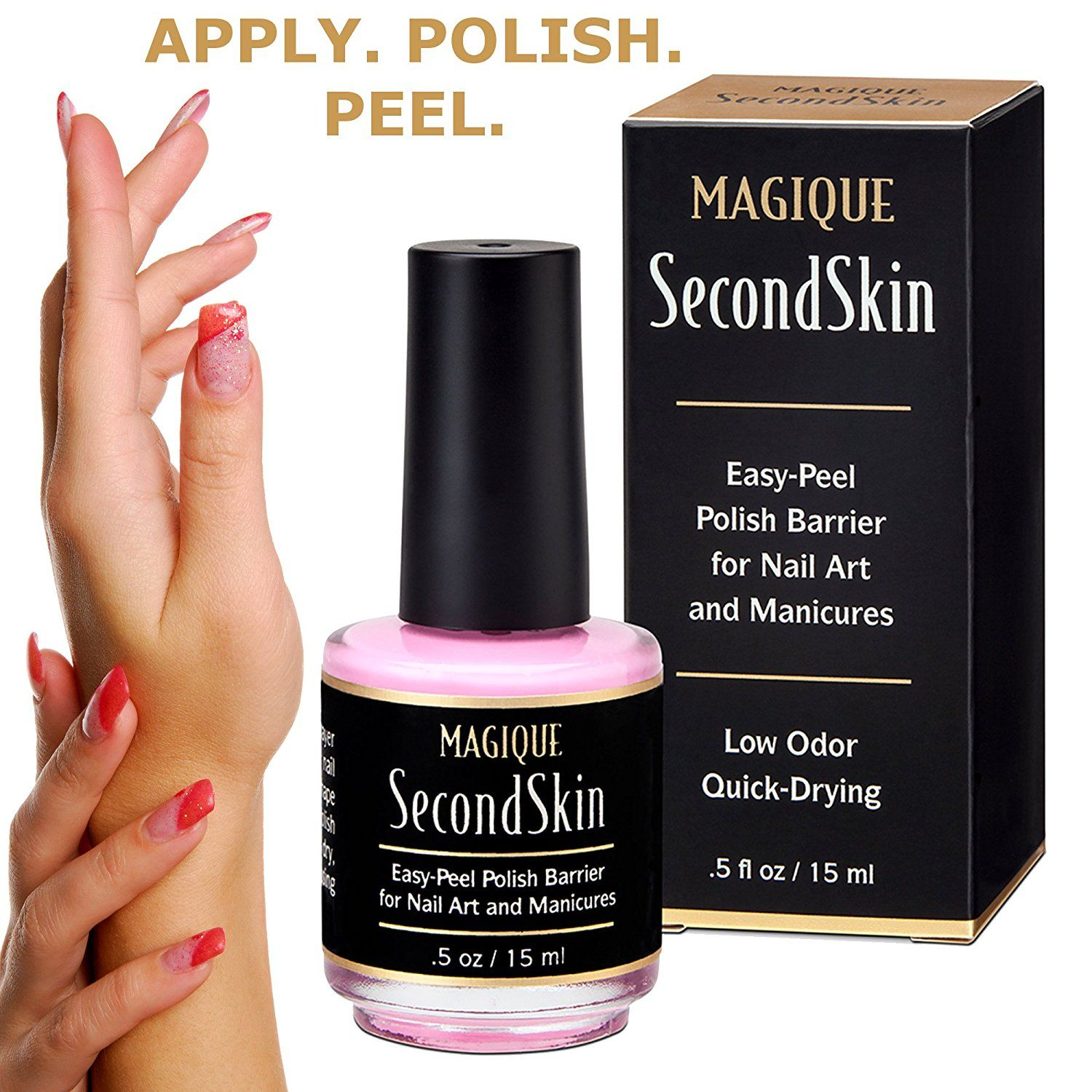 Liquid Latex Barrier For Nail Art Manicures Pedicures L Off Polish Simply Tape Easy Cleanup Messy