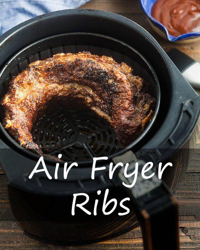 Air Fryer Ribs Recipe in 2020 Food to make, Air fryer