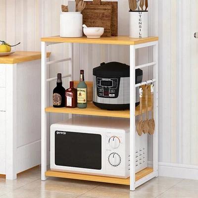 Microwave Oven Home Storage Shelf Kitchen Cabinet In 2020 Diy Storage Rack Storage Shelves Shelves