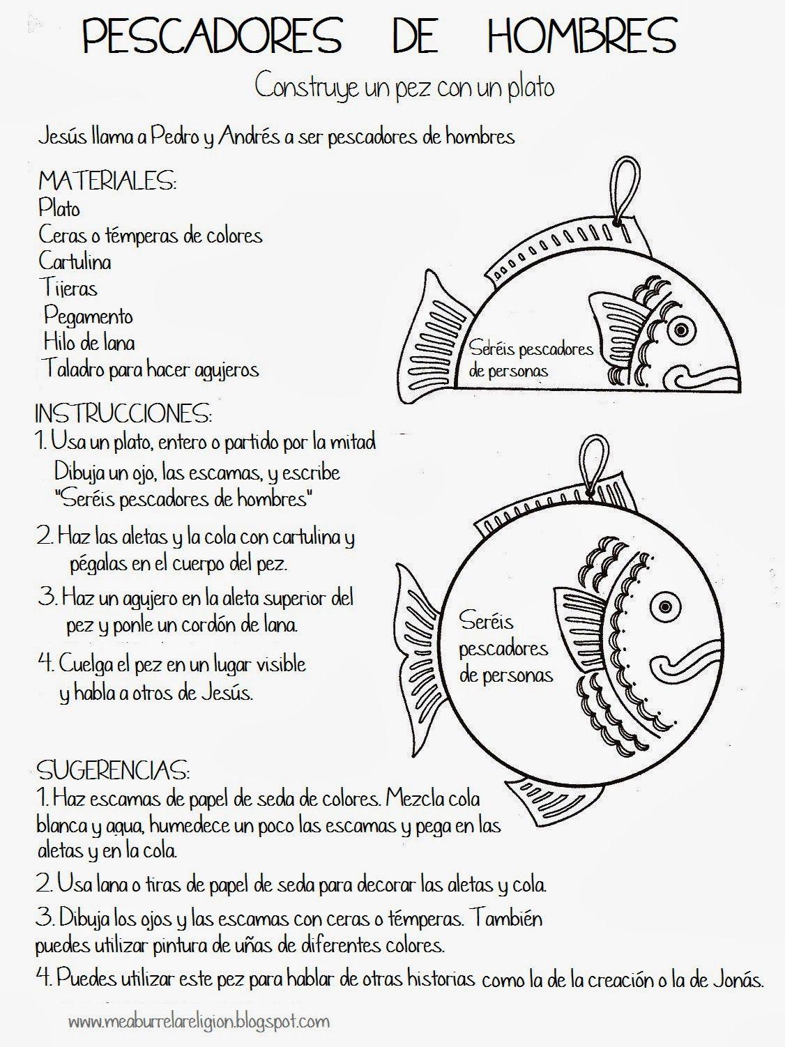 Manualidad pez. La pesca milagrosa | igle | Pinterest | La pesca ...