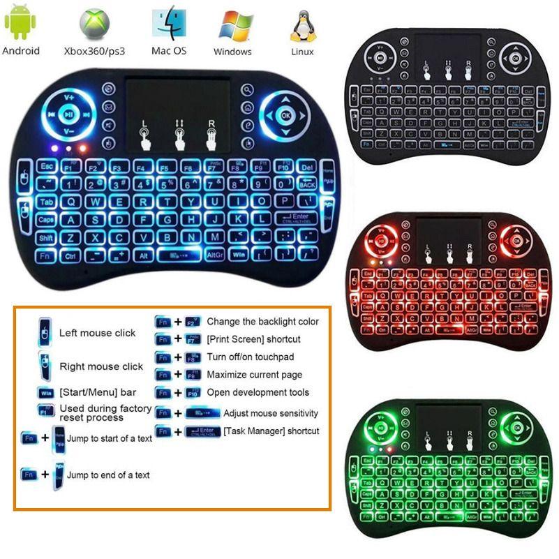 e4fd272d93c i8 Backlit Multi-Touch Mini Wifi Wireless keyboard For Smart TV BOX PC PS4  Kodi. | eBay!