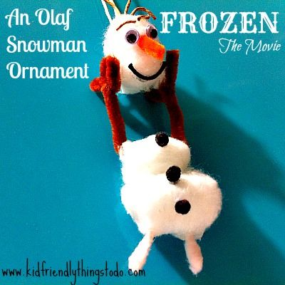 Olaf From the Movie Frozen Christmas Ornament  Olaf snowman Olaf
