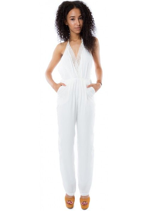 REVERSE CROCHET PLUNGE JUMPSUIT  | HAKKA FASHION | http://www.hakkafashion.com/jumpsuits-playsuits/281-reverse-crochet-plunge-jumpsuit-.html?search_query=PLUNGE&results=8