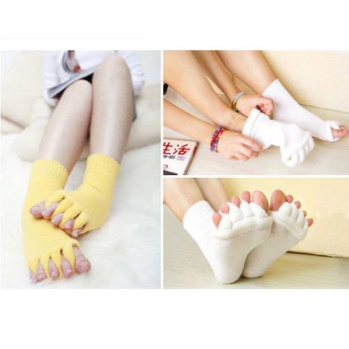 Toes Foot Alignment Socks Relief for bunions hammer toes cramps happy feet