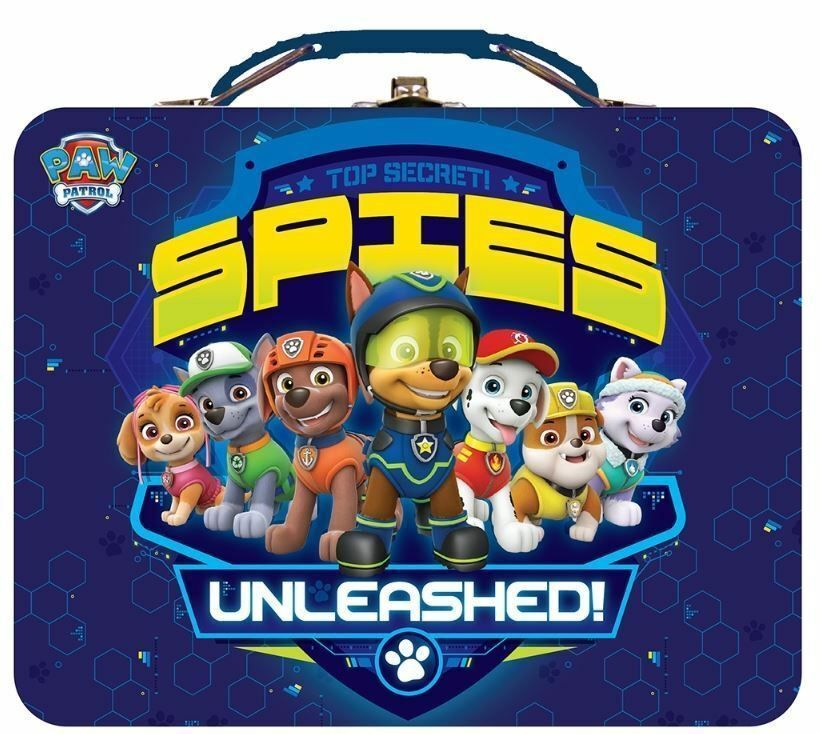 Paw Patrol Top Secret Spies Unleashed Tin Lunch And Storage Box Paw Patrol Minion Party Paw Patrol Party