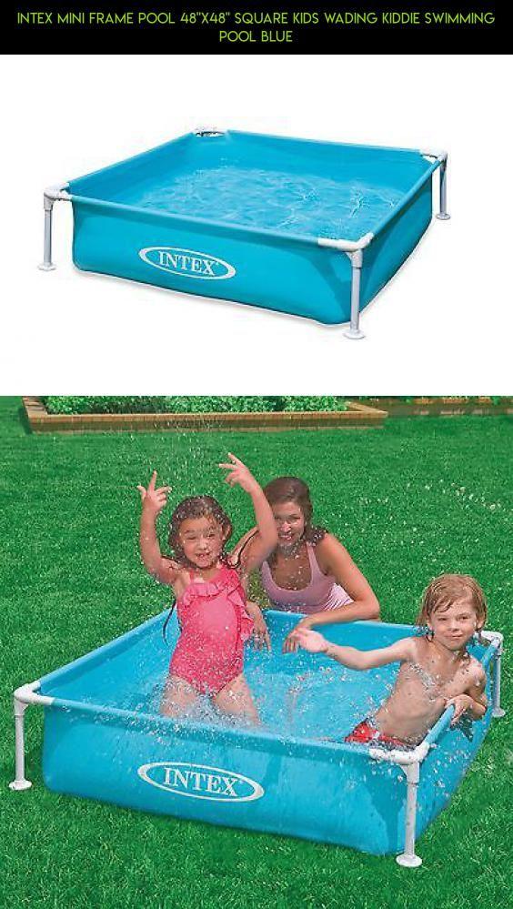 Intex Mini Frame Pool 48x48 Square Kids Wading Kiddie Swimming Blue