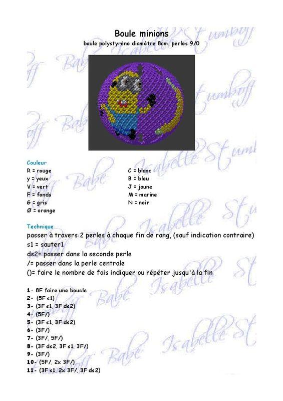 Patron de Boules 6 et 8 cm + Grille Pot à Crayons \