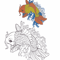 Aneka Gambar Mewarnai Gambar Mewarnai Ikan Bendera Untuk Anak Paud