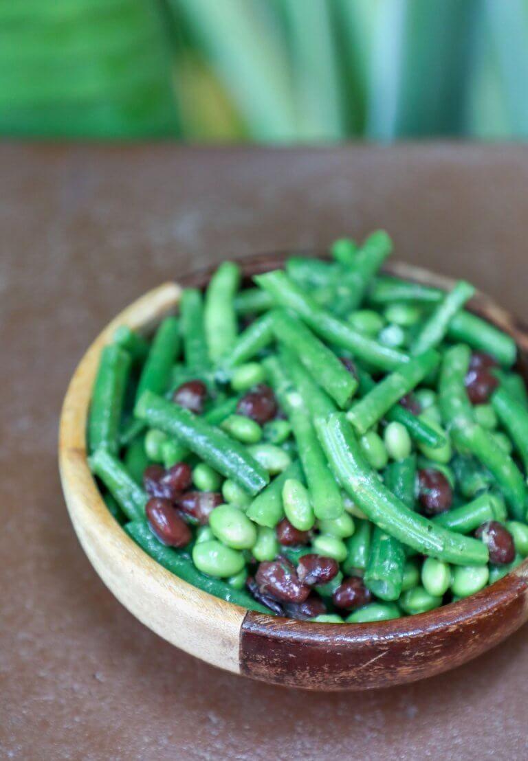 Keto 3 Bean Salad Low Carb Recipe Recipes Veggies Bean Salad 3 Bean Salad Dairy Free