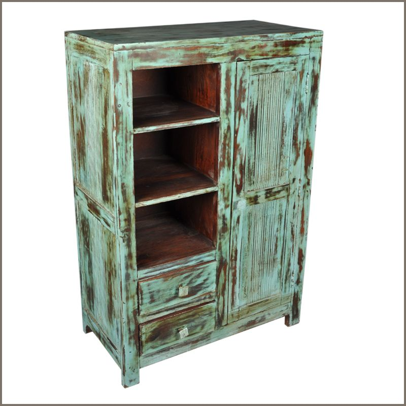 Ordinaire Rustic Old Reclaimed Wood Distressed Chifferobe Wardrobe Bedroom Clothes  Armoire