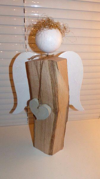 Weihnachtsfiguren - Dekorativer Weihnachtsengel - ein Designerstück von Andy1968 bei DaWanda #rustikaleweihnachten