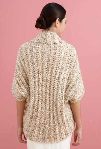 Free Crochet Pattern L20507b Simple Crochet Shrug Lion Brand Yarn