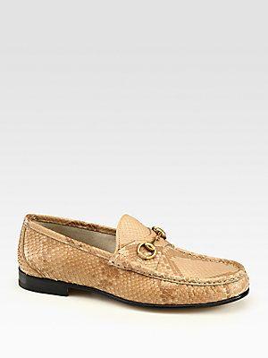 119b74fb1cd Gucci Natural Python Horsebit Loafer