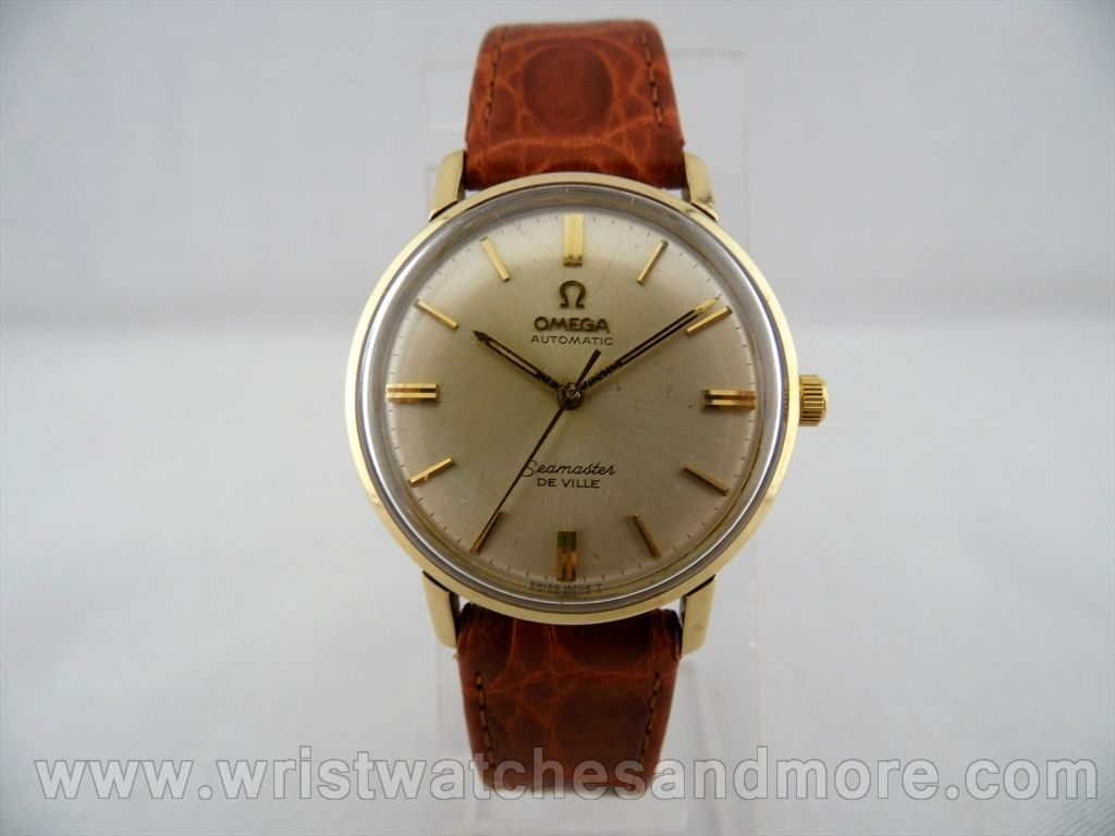 omega seamaster 18k solid gold quot vintage quot 1960 s