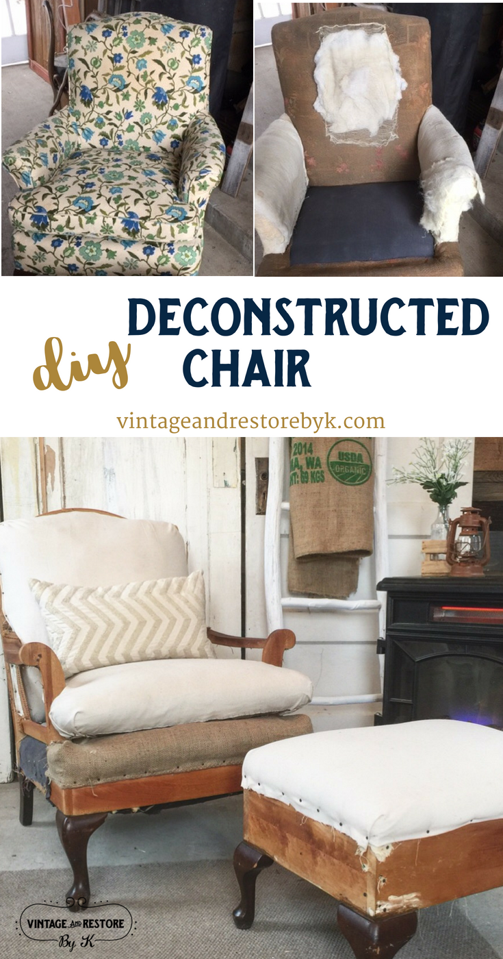 Diy Deconstructed Chair In 2020 Furniture Disposal Trendy