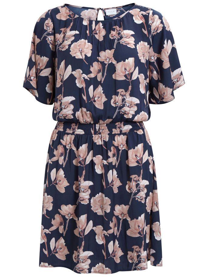 Feminine winter flowers - Vicasey dress