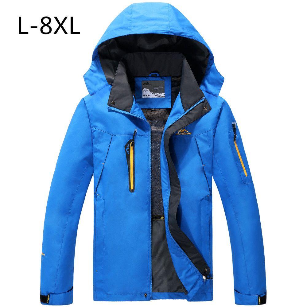 Autumn Jacket man Warm Plus size 8XL 7XL 6XL 5XL