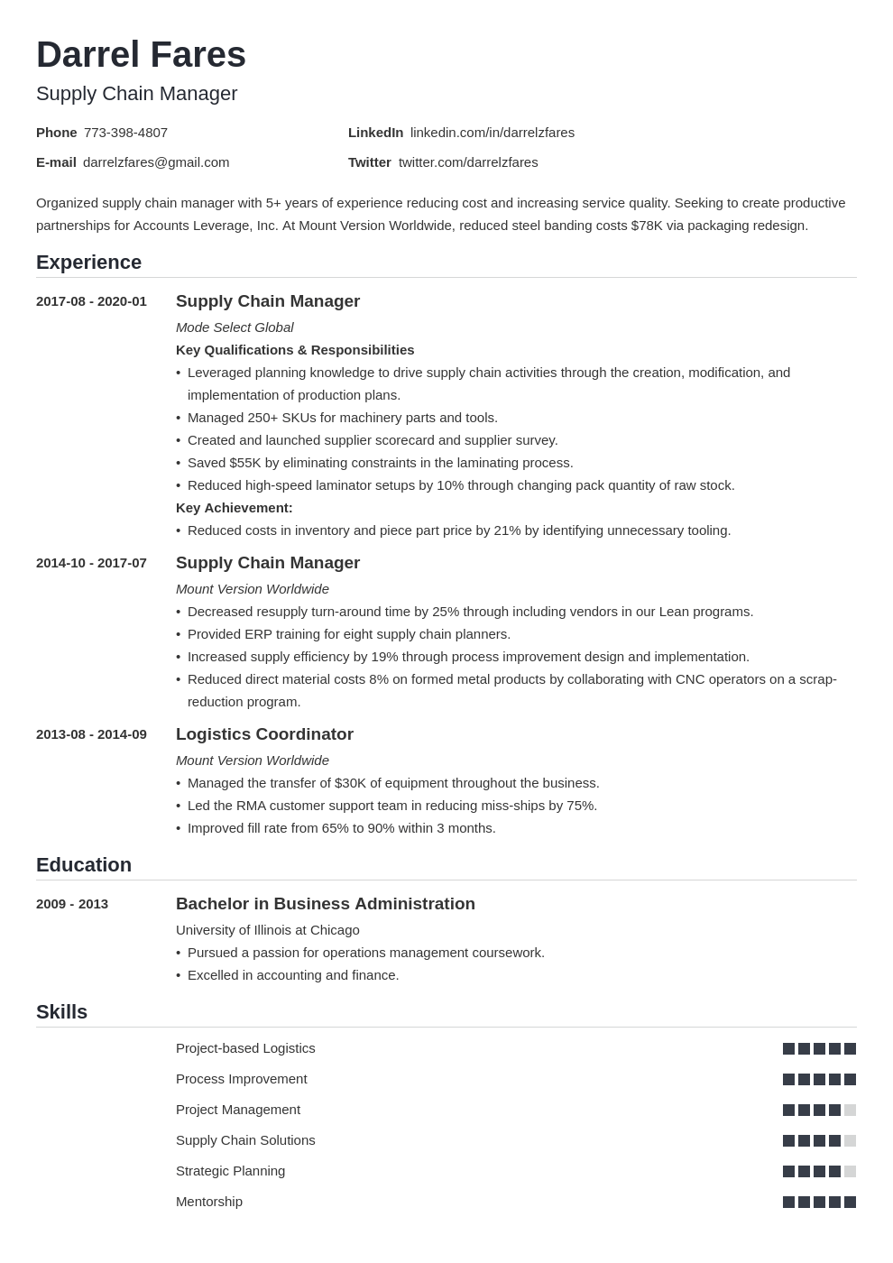 Supply Chain Manager Resume Example Template Nanica Resume Examples Manager Resume Guided Writing