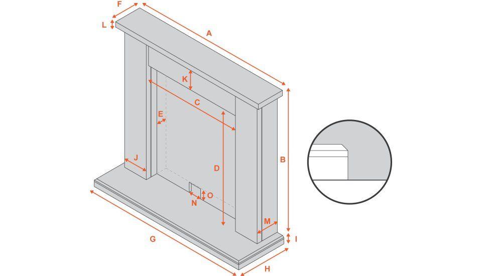 the camden optimyst fireplace suite in roman stone 39 inch rh pinterest com