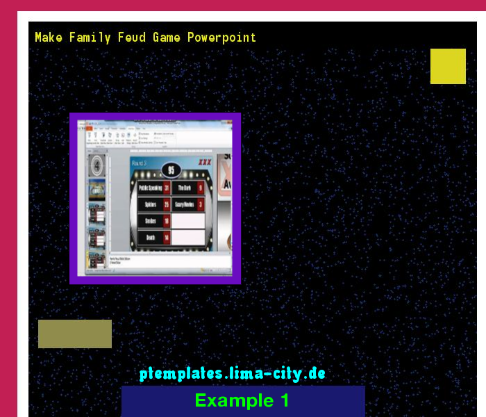 Make Family Feud Game Powerpoint Powerpoint Templates