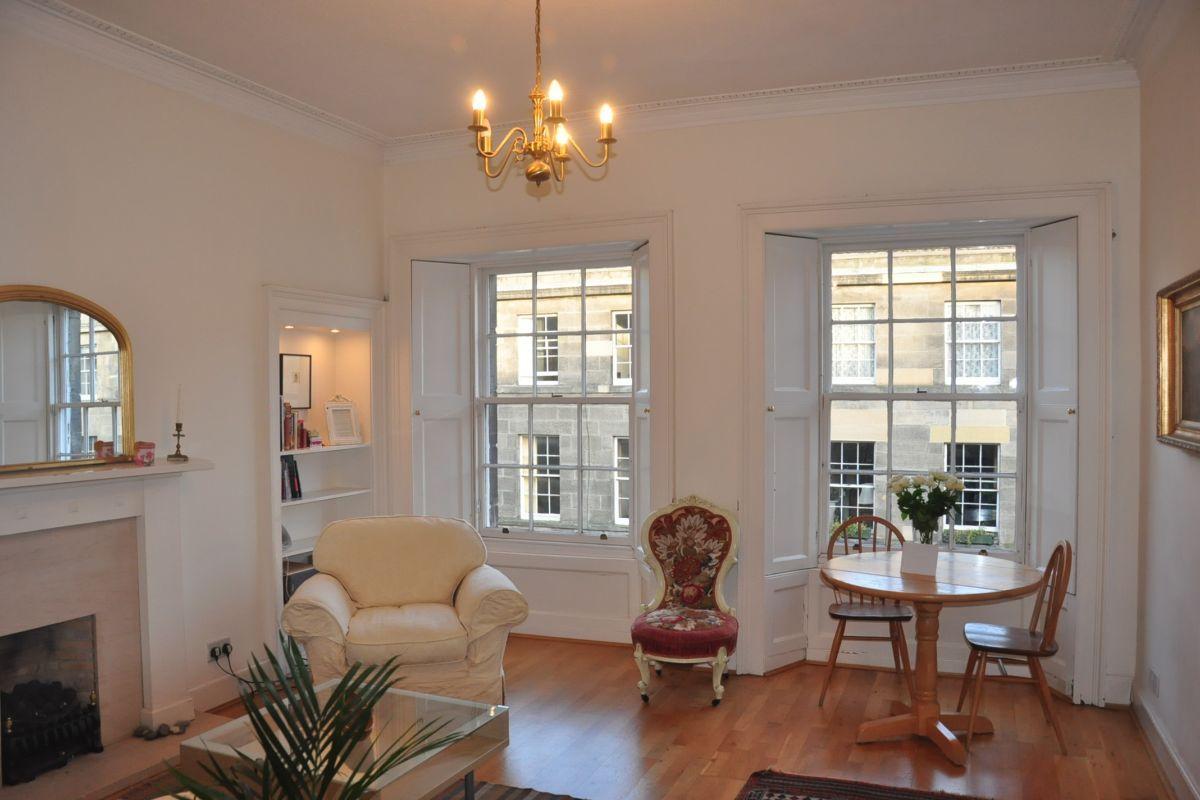 Living Area, St Stephen Street Serviced Apartment, Edinburgh