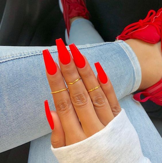 Acrylic Nails For Valentines Day Red Acrylic Nails Summer Acrylic Nails Red Nail Designs